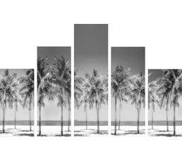 Set de 5 toiles 150X100 PLAMIERS Noir-blanc