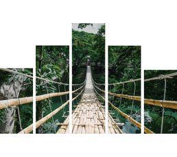 Set de 5 toiles 150X100 FOREST Vert