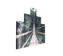 FOREST Set de 5 toiles 150X100 Vert