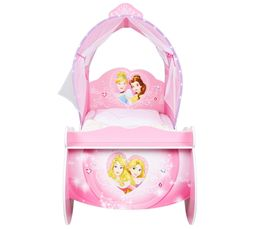 Lit carrosse 70x140 cm avec leds DISNEY PRINCESSES