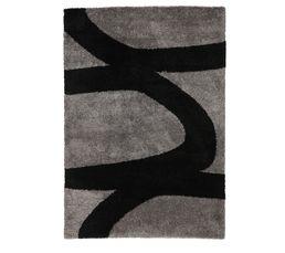 Tapis 160x230 cm AARON noir/gris