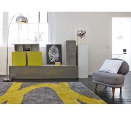 Tapis 160x230 cm AARON jaune/gris