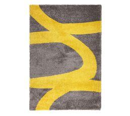 AARON Tapis 160x230 cm jaune/gris