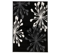 Tapis 120X170 ARTIFICE LUREX Noir
