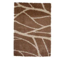 Tapis Pour Votre Salon - Descente de lit 60x110 cm SAHARA beige/chocolat
