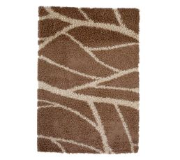 Tapis - Descente de lit 60x110 cm SAHARA beige/chocolat