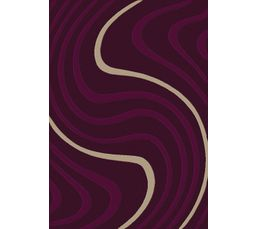 Tapis - Tapis 120 x 170 cm WAVES Prune