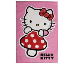 Descente de lit 95x133 cm HELLO KITTY ROSE imprimé