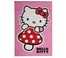 Tapis - Descente de lit 95x133 cm HELLO KITTY ROSE imprimé
