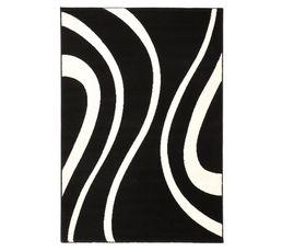 Couleur noir tapis de salon ou chambre pas cher - Tapis noir et blanc pas cher ...