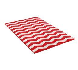 Tapis - Tapis 100x150 cm CHEVRON LUREX rouge