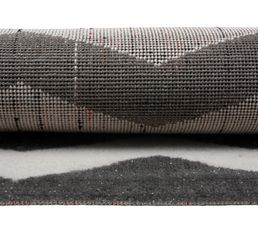 Tapis 100x150 cm CHEVRON LUREX gris