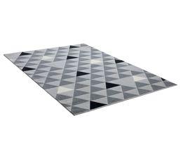 GEO Tapis 120x170 Gris / Noir