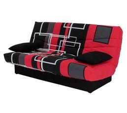 Le canap� convertible clic clac Porto rouge et noir