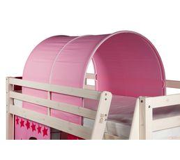 Lits Superposés Et Mezzanines - Tunnel pour lit mi-haut et HAPPY superposé83-40004 décor rose