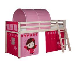 Rideau pour lit mi-haut et HAPPY superposé83-20207 décor rose