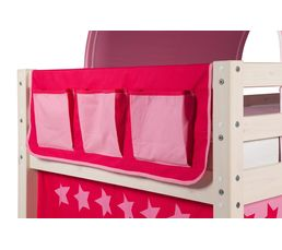 Lits Superposés Et Mezzanines - Pochette pour lit mi-haut et HAPPY superposé83-90171 décor rose