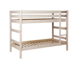 lit mezzanine 90x200 cm montana ch ne gris pas cher avis. Black Bedroom Furniture Sets. Home Design Ideas