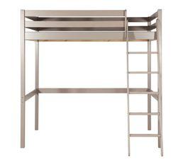 Lit mezzanine 90x190 cm HAPPY 80-13504-45 gris