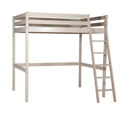 Lits Superposés Et Mezzanines - Lit mezzanine 140x190 cm HAPPY 80-13507-2 blanc
