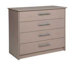Commode 4 tiroirs HAPPY 81- 09305 - 45 gris