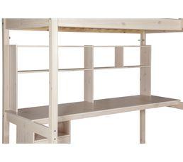 HAPPY Bureau 190 cm et étagères 82-50104 - 2 blanc