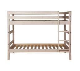 lit superpos 90x190 cm happy 2 blanc lits superpos s et mezzanines but. Black Bedroom Furniture Sets. Home Design Ideas