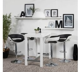 tabouret de bar grace noir et blanc tabourets but. Black Bedroom Furniture Sets. Home Design Ideas