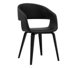 chaise san noir noir chaises but. Black Bedroom Furniture Sets. Home Design Ideas