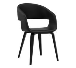 Chaises - Chaise SAN Noir/noir