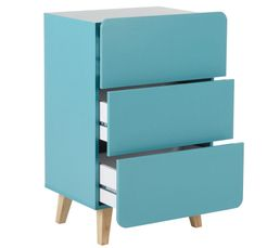 Commode 3 tiroirs MILA 80071-4 bleu