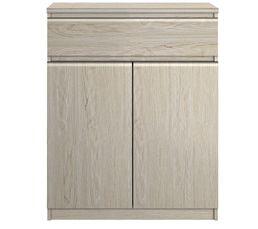 Rangement 2 portes / 1 tiroir BEST imitation chêne
