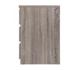 Commode 3 tiroirs BEST imitation chêne grisé