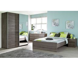 lit 140x190 cm best imitation ch ne gris lits but. Black Bedroom Furniture Sets. Home Design Ideas