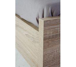 Lit 140x190 cm BEST imitation chêne grisé