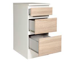 Bas 40 cm 3 tiroirs BEST 8340449AK / Imitation chêne