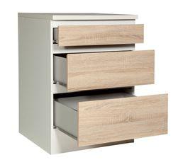 Bas 60 cm 3 tiroirs BEST 8340649AK / Imitation chêne