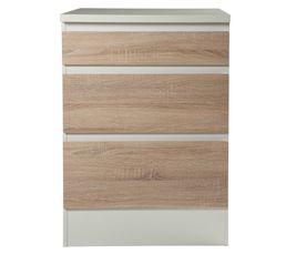 Meubles Hauts Et Bas - Bas 60 cm 3 tiroirs BEST 8340649AK / Imitation chêne