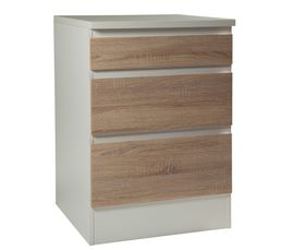 Bas 60 cm 3 tiroirs BEST 8340649AK / Imitation ch�ne