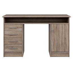 bureau droit lexik imitation ch ne gris bureaux but. Black Bedroom Furniture Sets. Home Design Ideas