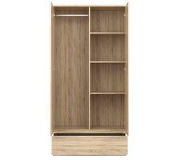 Armoire 2 portes BEST 1 tiroir imitation chêne