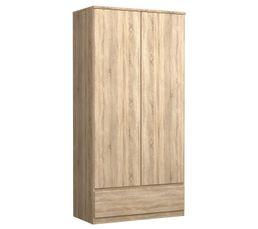 Armoire 2 portes BEST 1 tiroir imitation ch�ne