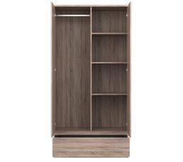 Armoire 2 portes 1 tiroir BEST  imitation chêne gris