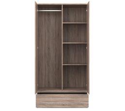 Armoire 2 portes 1 tiroir BEST  imitation ch�ne gris