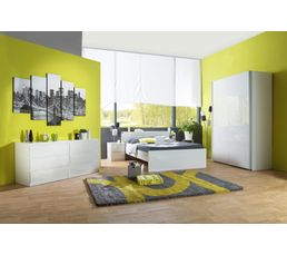 lit 140x190 cm best lak blanc laqu lits but. Black Bedroom Furniture Sets. Home Design Ideas