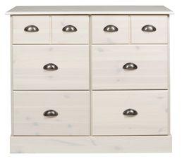 Range tout 6 tiroirs nola blanc buffets but for Petit meuble blanc a tiroir