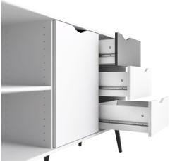 Buffet 2 portes/3 tiroirs OSLO Blanc/noir