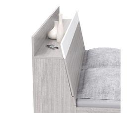 Lit 140x190 cm EMPORIO 2 Blanc/ imitation acacia