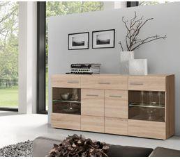 Buffets - Buffet 4 portes 1 tiroir COMBINO Chêne sonoma