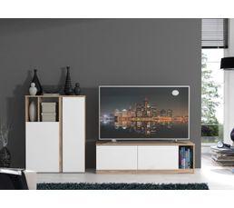 buffet haut meuble tv maser ch ne blanc buffets but. Black Bedroom Furniture Sets. Home Design Ideas